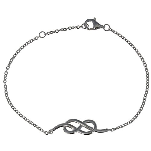 s - Silber Rhodium Armband Seemann Knoten (Seemann Knoten-armband)