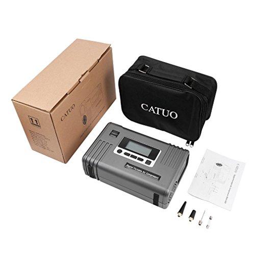 oHholly CATUO Digitaler tragbarer Luftkompressions-Reifenfüller mit LED-Pumpe bis 100 psi