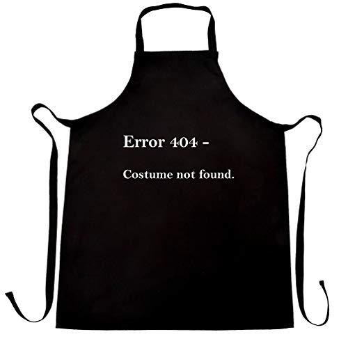 Nerdy Halloween Schürze des Chefs Fehler 404, Kostüm nicht gefunden Black One Size