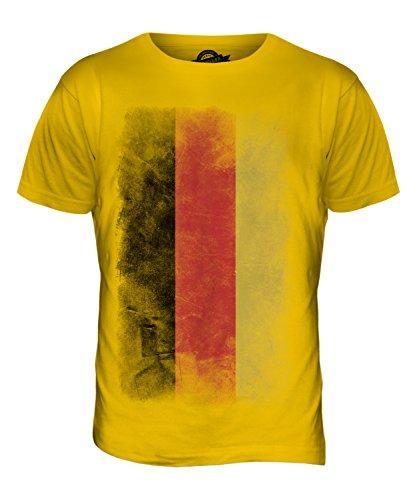 CandyMix Deutschland Verblichen Flagge Herren T Shirt Dunkelgelb