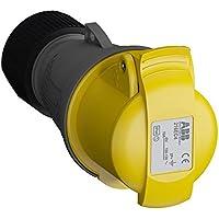 ABB 216EC4 IP44 2P+E - Toma de cable recta, termoplástico, color amarillo
