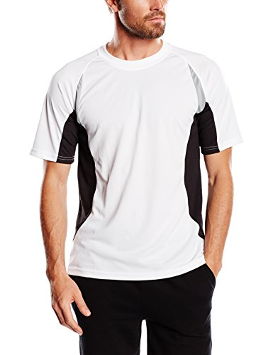 James & Nicholson Herren kurze Ärmel T-Shirt Running T weiß (white/black) Large