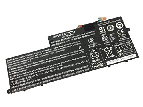 BPX Laptop Battery Laptop Battery AC13C34(11.4V 2640mAh 30Wh) for Acer Aspire E3-111 E3-112 V5-122P Series KT.00303.005 3ICP5/60/80