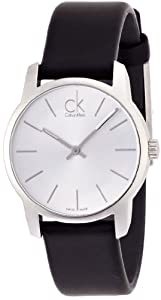 Calvin Klein-Reloj de pulsera analógico para mujer cuarzo piel K2G231C6 de Calvin Klein