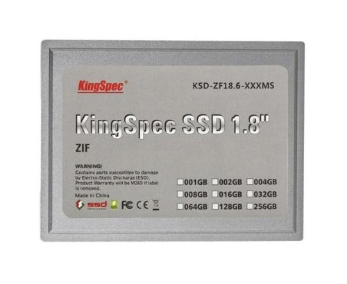 64 GB KingSpec da 1,8 pollici ZIF 40 pin SSD Solid State Disk SMI Controller (MLC)