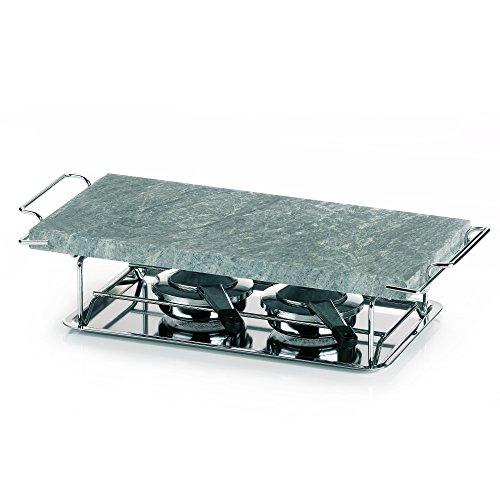 gourmet-grill-66510-plancha-para-cocinar-a-la-piedra-calienta-platos-con-armazn-y-hornillos-32-x-19-