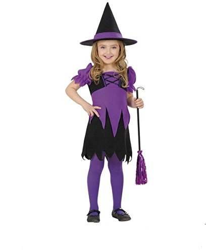 Hexe Witch lila mit Hut Halloween Faschings Kinder - Halloween Disfraz