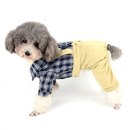Ranphy Welpen-Outfits aus Baumwolle mit Fliege für Hunde, ()