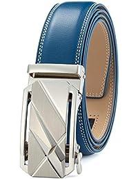 GFG Cinturón de cuero para hombres con hebilla automática ... 08670071229c