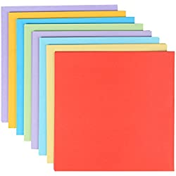 PIGLOO Pack of 120 Square Origami Craft Color Paper Sheets, Size 17.5 x 17.5 cm (Assorted Colors)