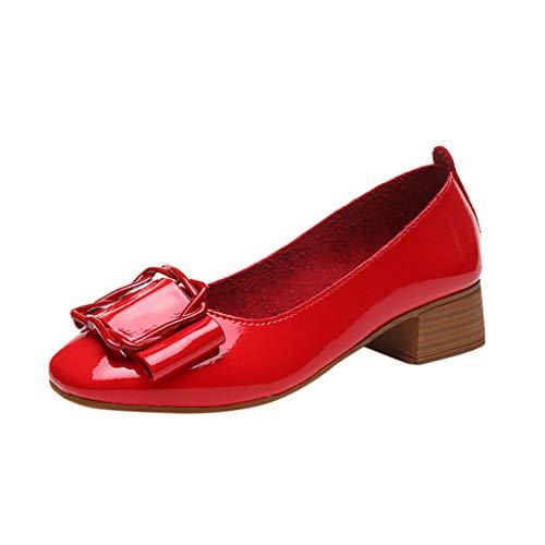 b10f7f62ca Zapatos de Vestir Tacón Ancho Grueso Medio para Mujer Invierno Primavera  2019 PAOLIAN Calzado Fiesta de Piel Sintético Elegantes Tallas Grandes  Zapatos de ...