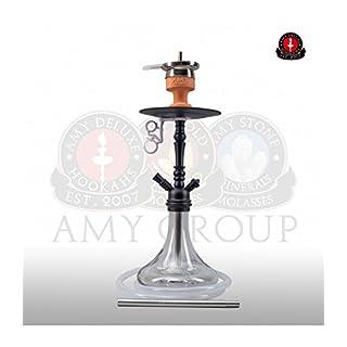 AMY Shisha 056 Middle Globe - clear - RS black powder