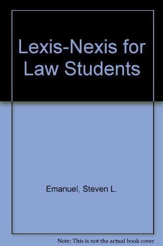 lexis-nexis-for-law-students-3rd-edition-by-emanuel-steven-l-1997-paperback