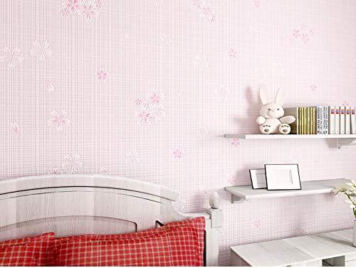 DUOCK Papel de Parede idyllische Romantische Schlafzimmer Wohnzimmer Non-Woven Tapete Flower Girl's Kinder Schlafzimmer koreanischen Blumig, 800026 - Aqua Flower Girl