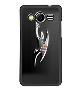 PrintDhaba Ninja Weapons D-1053 Back Case Cover for SAMSUNG GALAXY CORE 2 G355H (Multi-Coloured)