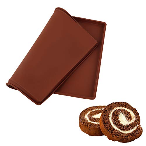 1PCS Antihaft-Backblech Silikon-Ofen Matte Kuchen-Kuchen Rollblock flexible Backblech Silikon-Keksform,XL