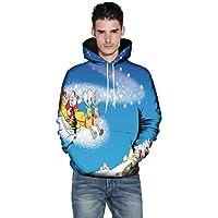 Herrenmode 3D Weihnachten Print Langarm Paar Hoodie Shirt