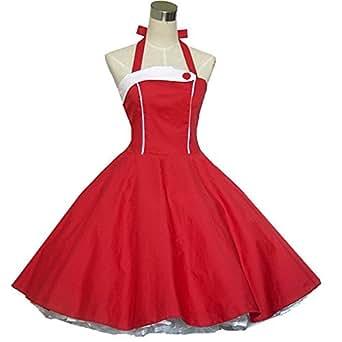50er Jahre Rockabilly-Kleid INKLUSIVE PETTICOAT - Tracy, Größe:34/36