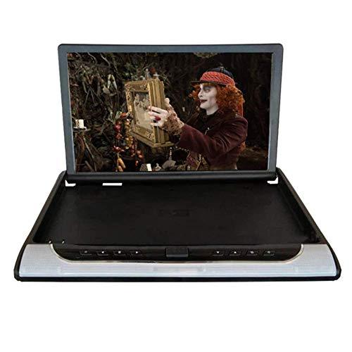 Z-SGYX 19 Zoll Car Flip Down Monitor HDMI 1080P HD TFT LCD Thin Overhead Video Player für Car SD MP3 MP5 LED mit USB TF,Beige
