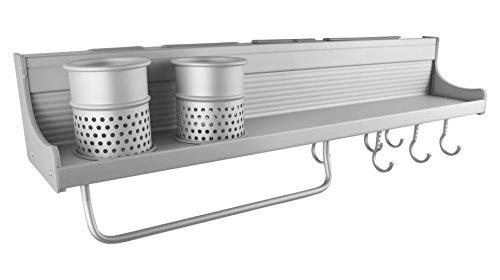 Wandregal Regale Küchenregal Küche Regal Küchenablage Gewürzregal mit 6 x Haken