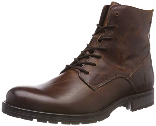 JACK & JONES Herren JFWORCA Leather Boot Cognac NOOS Klassische Stiefel, Braun, 43 EU