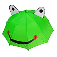 Foxom Kids Umbrella, Children Rain Umbrella with 3D Ears for Boy and Girl