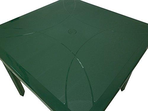 Tavolo Giardino Plastica Verde.Giardino E Arredamento Esterni Tavolo Tavolino Quadrato 80x80