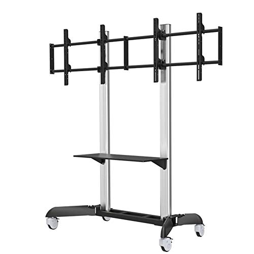 37 Flat Panel Tv Stand (Xue Rolling TV Stand Mobile TV Cart, Für 37-65 Zoll LED LCD Plasma-TV Flat Panel Displays Wire Management Shelf Mit Wheels Mobile Bedroom Klassenzimmer Meeting-Raum Video-Call)