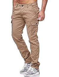 Redbridge Herren Cargo Jeans Hose Straight Leg Braun - Khaki RBC M4158