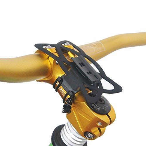 upanbike Bike Motorrad hnadlebar Vorbau Halterung Bike Mount Double Seil Strap Lock kompatibel mit Universal Telefon und GPS, schwarz - Gps-lock