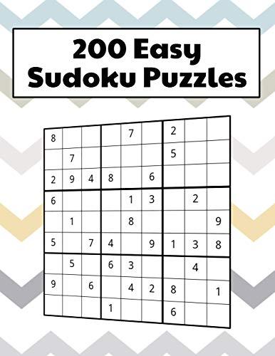 200 Easy Sudoku Puzzles Square Format Matte