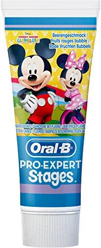 Oral-B Pro-Expert Stages Zahnpasta mit Figuren aus Disneys Mickey Maus, 75 ml