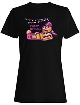 Nuevo Regalo Del Feliz Cumpleaños camiseta de las mujeres i435f