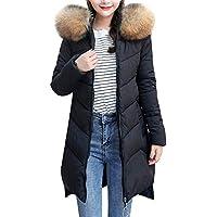 Damen Winterjacke Wintermantel Lang Daunenjacke Jacke Outwear Winter Warm Down Mantel Daunenmantel Trenchcoat Hood Slim Fit Kapuzenjacke Coat