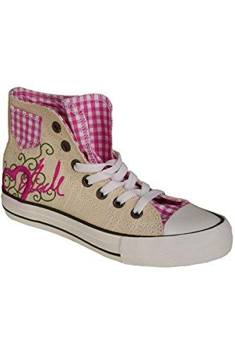 Trachten Sneaker im Chucks Look pink 'Madl mit Herz', pink, Pink