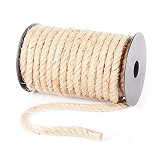 Jute Rope 32.8 feet Packaging lamp Decoration Decorative Rope Vintage Hand-Made 4-10mm Jute Rope Binding Hemp Rope Packaging for Floristry, Gifts, Customized DIY Arts&Crafts