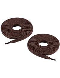 Chris Sol une paire de lacets en coton de haute qualité - plat - environ 7,0 mm de large, 15 couleurs, 70- 200 cm de long