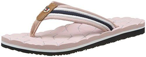 Tommy Hilfiger Damen Comfort Low Beach Sandal Zehentrenner, Pink (Dusty Rose 502), 39 EU