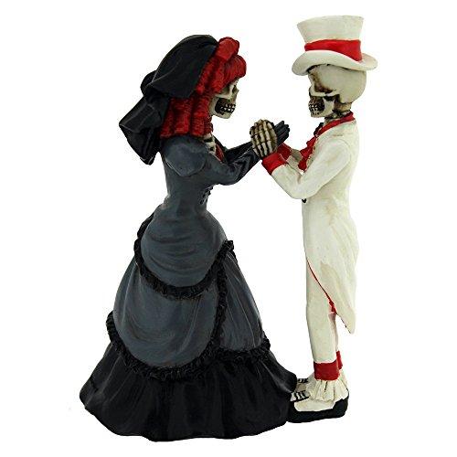 Nemesis now devoted to you skeleton couple figurine