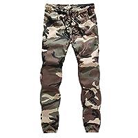 U/A Camo Cargo byxor herr vardaglig joggare kamouflage sportkläder säckiga byxor träningsbyxor arbete man byxor