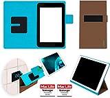 reboon Hülle für HP Slate 7 Plus Tasche Cover Case Bumper   in Braun   Testsieger