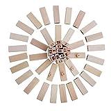Delicacydex Giant Toppling Timbers Blocchi di Legno Gioco Blocchi impilabili Torre impilabile per Un Divertente Gioco Outdoor Lawn Yard - 54 Pezzi - Legno