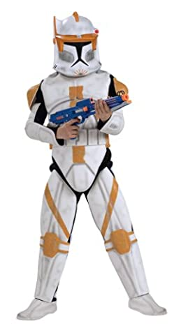 Clone Trooper Cody - Deluxe - Star Wars - Kinder-Kostüm - Small - 117cm (Star Wars Clone Trooper Kostüm Kinder)