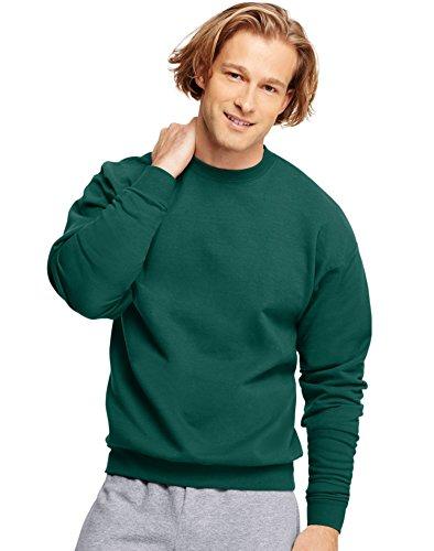 Adult Crewneck Fleece Sweatshirt (Hanes Adult ComfortBlend Crewneck Rib-Knit Fleece Sweatshirt, Deep Forest, XL)