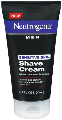 Neutrogena Men Sensitive Skin Shave Cream, 5.1 Ounce (Pack of 3) by Neutrogena -