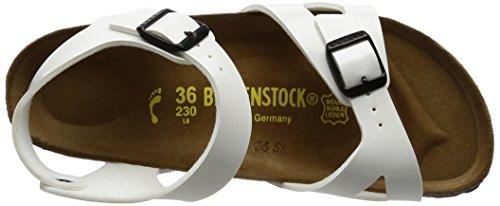 Birkenstock Kids - Rio Kinder, Sandali Alla Caviglia per bambine e ragazze Bianco (Blanc)