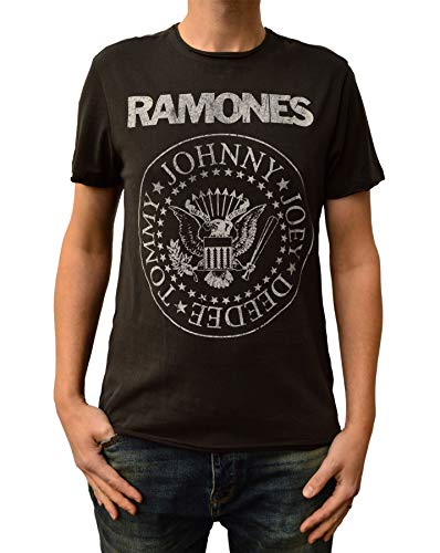 Amplified T-Shirt Ramones Classic Seal Charcoal (S) -
