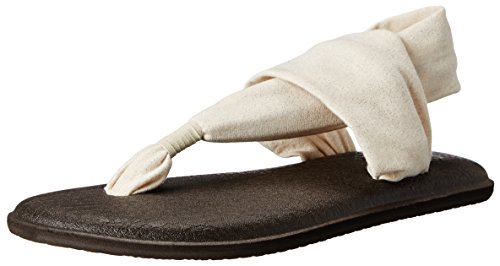 Sanuk Women's Yoga Sling 2 Metallic Flip Flop, Rose Gold, 6 M US