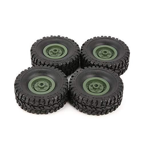 4pcs Gummi Felge Reifen Reifen für RC 1/16 Klettern Crawler Auto WPL B-1 / B-24 / C-14 / C-24 / B-16 LKW-Teil Ersatzteil Zubehör - Grün -