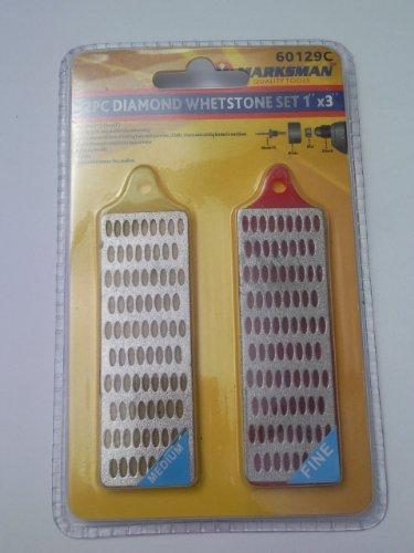 2 piezas conjunto Whetstone diamante 2,54 cm x 7,62 cm tirador 60129C